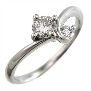ダイヤモンド リング 4月誕生石 ホワイトゴールドk10 skybell-shop