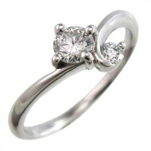 指輪 天然ダイヤ k18ホワイトゴールド skybell-shop