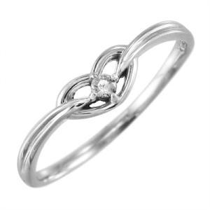 10金ホワイトゴールド リング ハート 1粒石 4月誕生石 天然ダイヤモンド skybell-shop