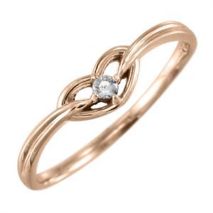 天然ダイヤ 指輪 ハート 型 1粒 石 18金ピンクゴールド 4月誕生石 skybell-shop