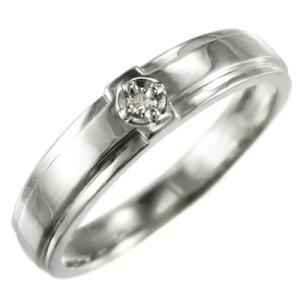 リング ブライダル リング ホワイトゴールドk10 クロス 一粒石 天然ダイヤモンド 4月誕生石|skybell-shop