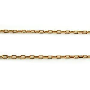 18金ピンクゴールド チェーン ネックレス 小豆チェーン 0.24mm|skybell