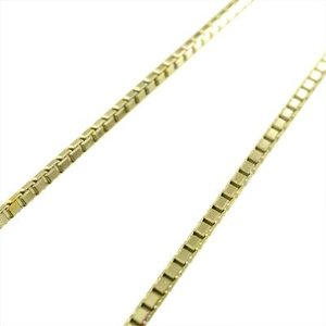 チェーン ネックレス ベネチアンチェーン スライド式 18金イエローゴールド 1.0mm skybell