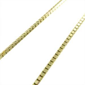 チェーン ネックレス 18金イエローゴールド ベネチアンチェーン スライド式 1.0mm skybell