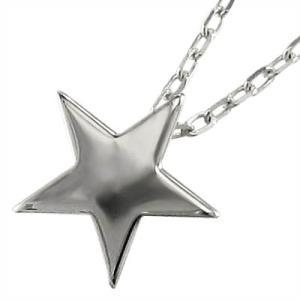 10金ホワイトゴールド チェーン ペンダント Star スター|skybell