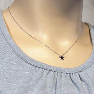 チェーン ペンダント Star スター 10金ホワイトゴールド|skybell|02