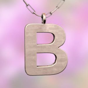 (名前 ネーム イニシャル) ネックレス 大文字のB  k10ピンクゴールド skybell