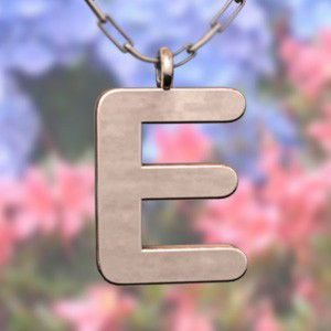 (名前 ネーム イニシャル) ネックレス 大文字のE  k10ピンクゴールド skybell