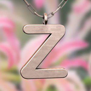 (名前 ネーム イニシャル) ネックレス 大文字のZ  k10ピンクゴールド skybell