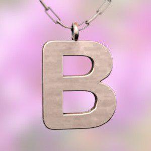 (名前 ネーム イニシャル) ネックレス 大文字のB  k18ピンクゴールド|skybell