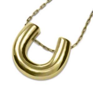 18金イエローゴールド 馬蹄 ネックレス シンプル|skybell