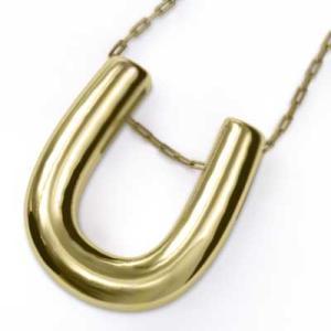ペンダント ネックレス 馬蹄 シンプル 18金イエローゴールド|skybell