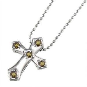 k10ホワイトゴールド ペンダント ネックレス ファイブストーン シトリントパーズ 11月誕生石 クロス|skybell