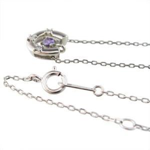 ジュエリー ペンダント 馬蹄タイプ アメシスト ダイヤモンド 2月の誕生石 プラチナ900|skybell|03