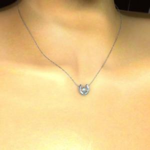 ペンダント ネックレス 幸運 馬蹄 ブルートパーズ ダイヤモンド 11月の誕生石 プラチナ900 skybell 02