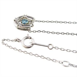 ペンダント ネックレス 幸運 馬蹄 ブルートパーズ ダイヤモンド 11月の誕生石 プラチナ900 skybell 03