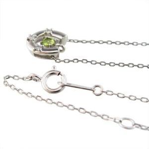ペリドット ダイヤモンド ジュエリー ペンダント 馬蹄タイプ 8月誕生石 白金(プラチナ)900|skybell|03