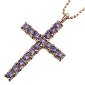 クロス ヘッド ジュエリー ペンダント アメジスト(紫水晶) 18金ピンクゴールド skybell 01
