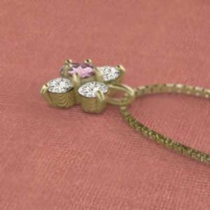 チェーン ペンダント k18イエローゴールド 5石 ピンクトルマリン 天然ダイヤモンド 10月誕生石|skybell|05