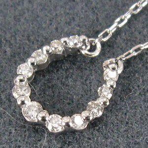 ダイアモンド ジュエリー ペンダント ラッキーアイテム馬蹄 4月誕生石 白金(プラチナ)900|skybell|02
