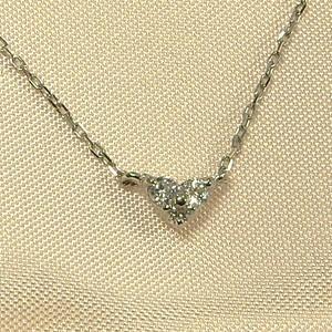 ぷちペンダントネックレス/ハート/ダイヤモンド/4月誕生石/プラチナ900|skybell