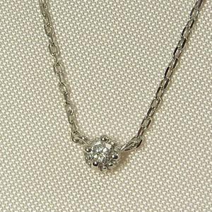 天然ダイヤ/ぷちペンダントネックレス/一粒/Pt900/4月誕生石|skybell