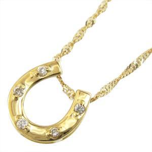 ジュエリー ペンダント 馬蹄タイプ ダイアモンド 4月誕生石 k18イエローゴールド|skybell