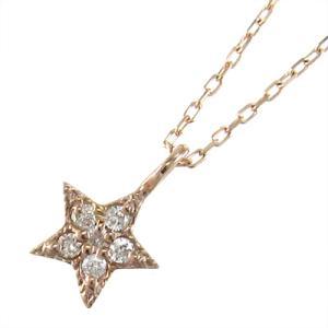 ペンダント ネックレス スター ジュエリー ダイヤモンド k10ピンクゴールド 4月誕生石|skybell