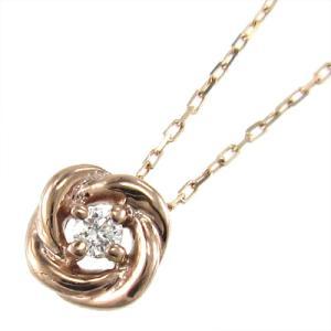 ジュエリー ペンダント 1粒 石 バラ ダイヤモンド 10金ピンクゴールド|skybell