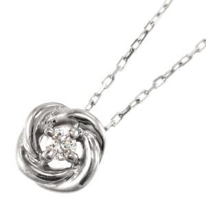 チェーン ペンダント 1粒 石 バラ ダイヤモンド k10ホワイトゴールド|skybell
