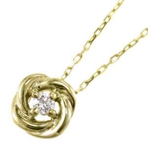 チェーン ペンダント 1粒 石 バラ ダイアモンド k10イエローゴールド|skybell