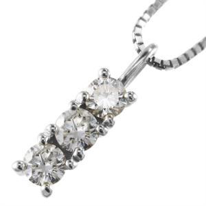 ジュエリーペンダント プレート 3石 天然ダイヤモンド プラチナ900 4月誕生石|skybell