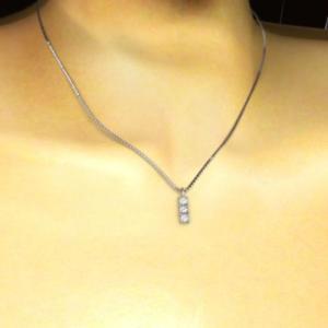 ジュエリーペンダント プレート 3石 天然ダイヤモンド プラチナ900 4月誕生石|skybell|02