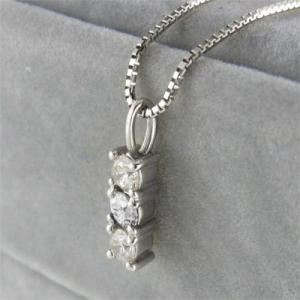 ジュエリーペンダント プレート 3石 天然ダイヤモンド プラチナ900 4月誕生石|skybell|04