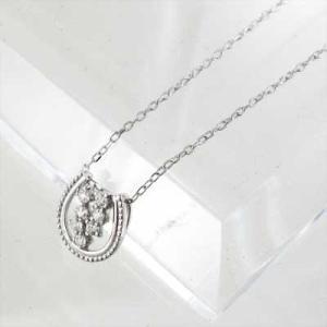 プラチナ900 チェーン ペンダント 天然ダイヤモンド 4月誕生石 馬蹄 デザイン|skybell|03