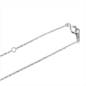 プラチナ900 チェーン ペンダント 天然ダイヤモンド 4月誕生石 馬蹄 デザイン|skybell|05