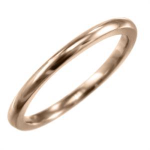 スタンダード 甲丸の指輪 18金ピンクゴールド 約1.4mm幅|skybell