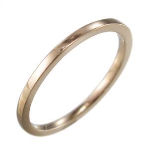 平打ちの 指輪 スタンダード k18ピンクゴールド 約1.4mm幅|skybell