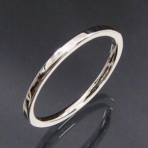白金(プラチナ)900 平らな指輪 地金 約1.4mm幅|skybell