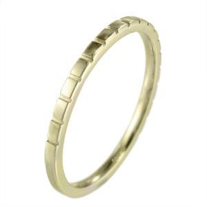 丸い 指輪 地金 k10イエローゴールド 約1.4mm幅 ハーフ溝入り|skybell