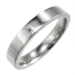 平打ちの指輪 レディース スタンダード k18ホワイトゴールド 約3mm幅|skybell