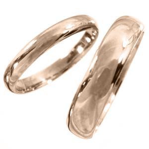 k18ピンクゴールド 甲丸の指輪 ペアの指輪 地金|skybell