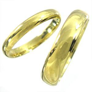 k18イエローゴールド 丸い指輪 ペアの指輪 地金|skybell