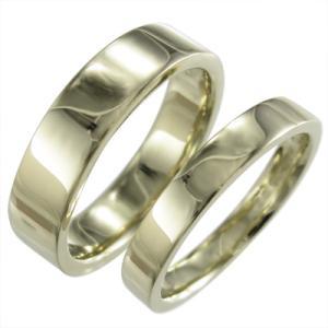 地金 平たい リング ペア 指輪...
