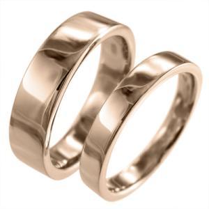 平打ちの 指輪 レディス メンズ リング k18ピンクゴールド スタンダード|skybell