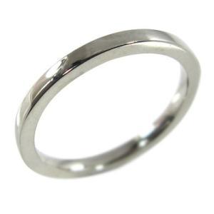 k10ホワイトゴールド 平たい リング ピンキー 小指 リング 地金 約1.4mm幅|skybell