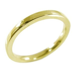 k10イエローゴールド 平たい リング ピンキー 小指 リング 地金 約1.4mm幅|skybell