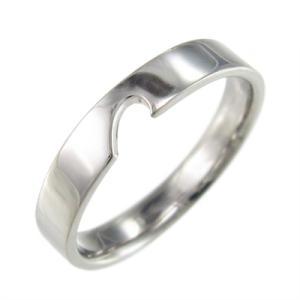 指輪 スタンダード 変形ハート プラチナ900 ペアリングの片割れ|skybell