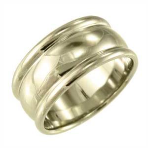 メンズ 地金 幅広 指輪 k10イエローゴールド 約10mm幅 特大サイズ ずっしり重量感|skybell