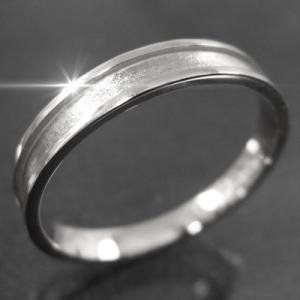 平たい リング ピンキー 小指 リング 地金 k10ホワイトゴールド 約3mm幅|skybell